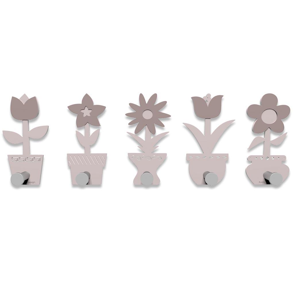 Callea design linea fiorello appendiabiti in legno vari colori
