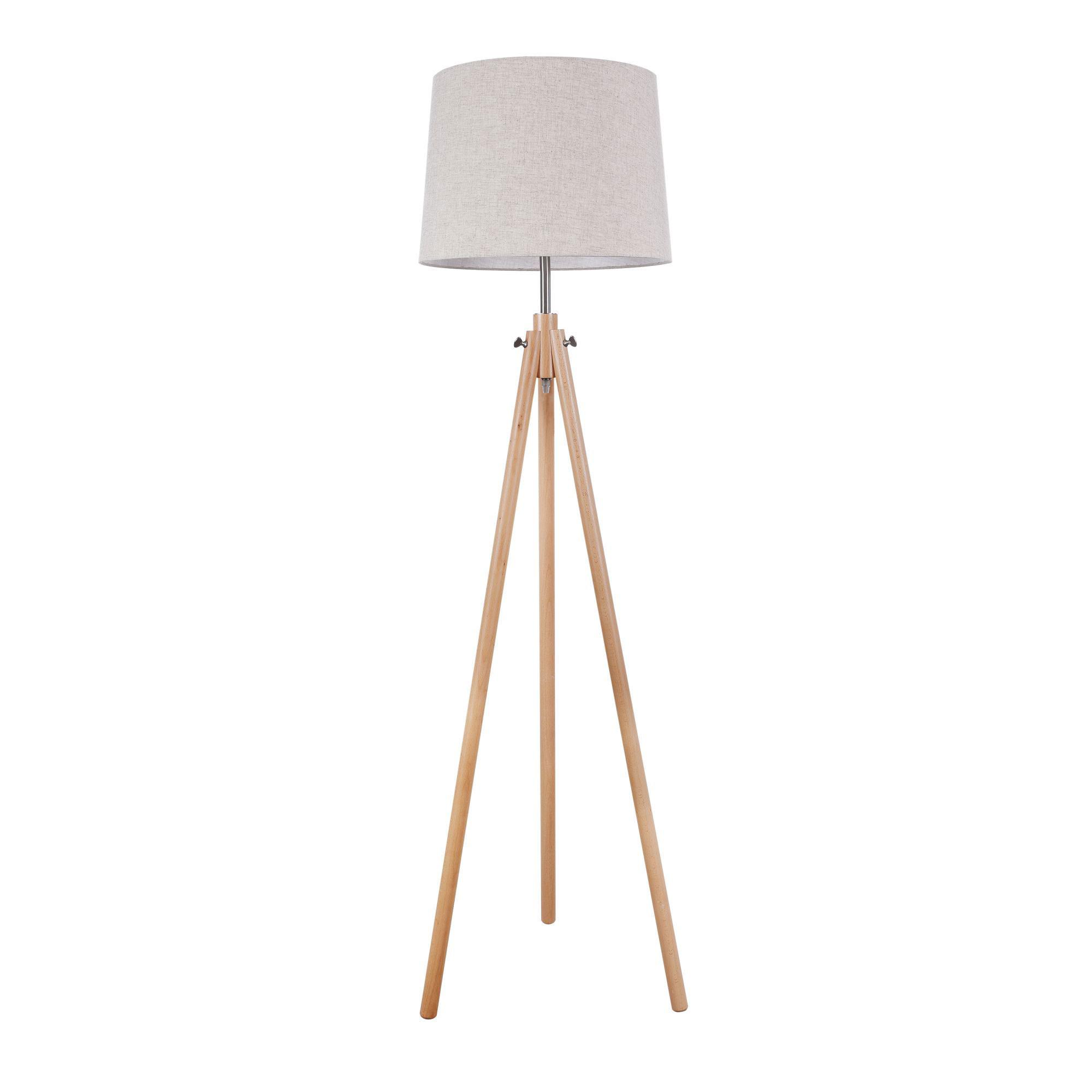 Lampade Da Terra In Legno.Maytoni Lampada Da Terra In Stile Moderno In Legno Calvin Table