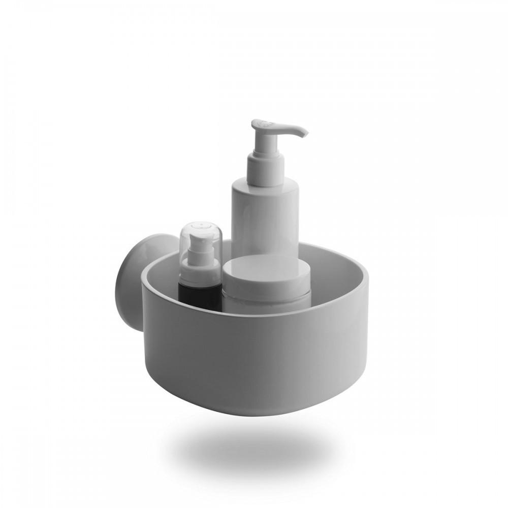 Alessi linea birillo porta saponi doccia con ventosa bianco for Dispenser sapone ikea
