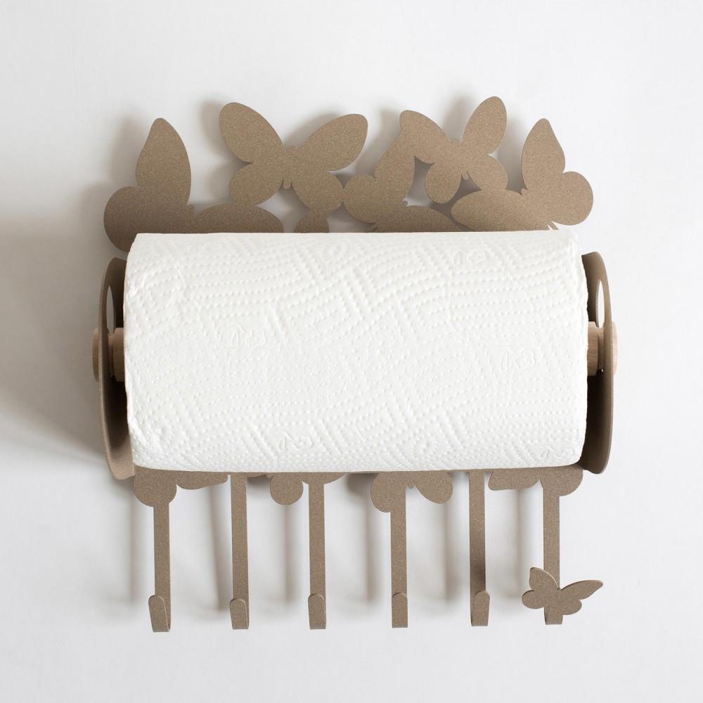 Arti e mestieri porta scottex da parete in metallo linea - Porta coperchi da muro ...