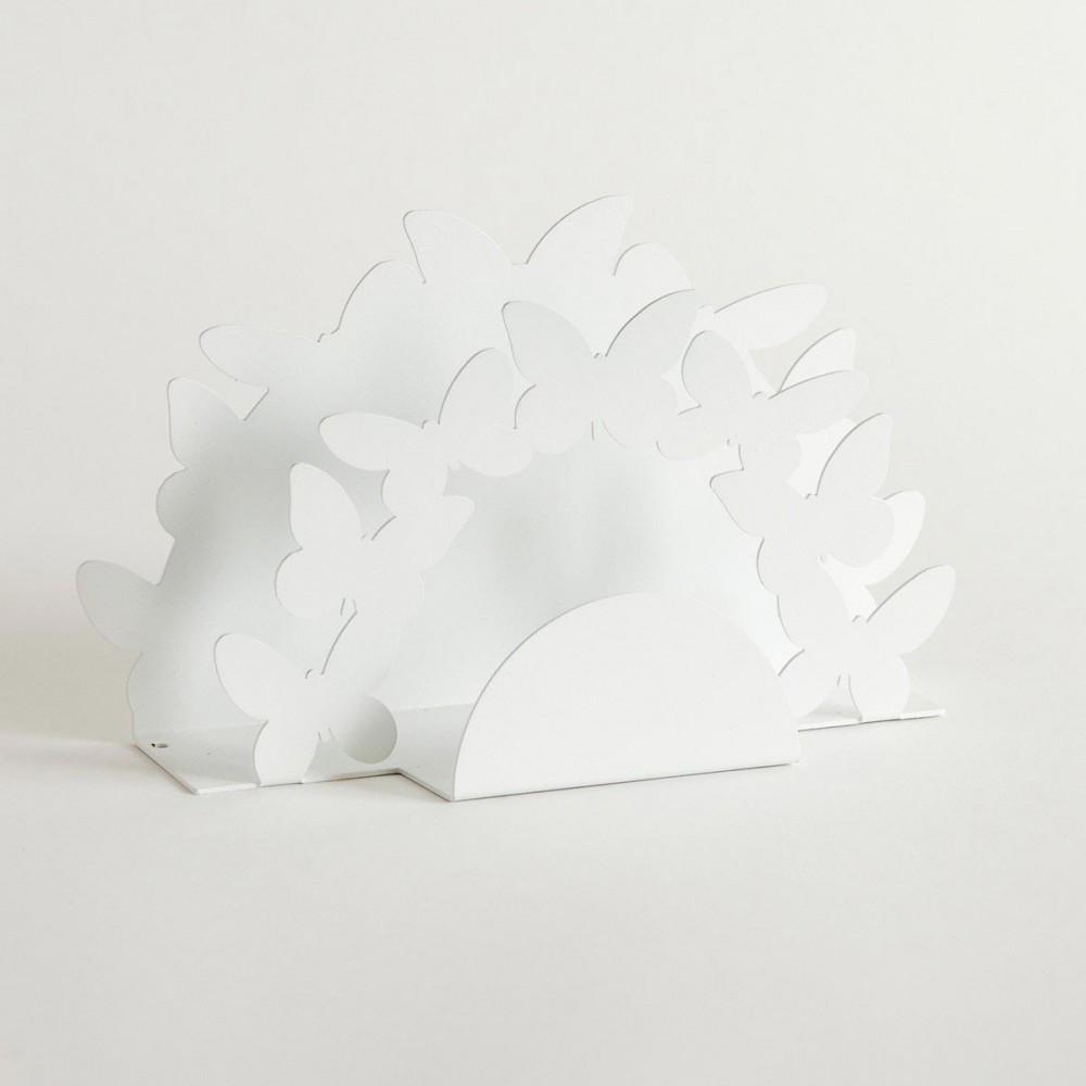 Arti e mestieri portatovaglioli verticale in metallo linea farfalle - Portarotolo cucina verticale ...