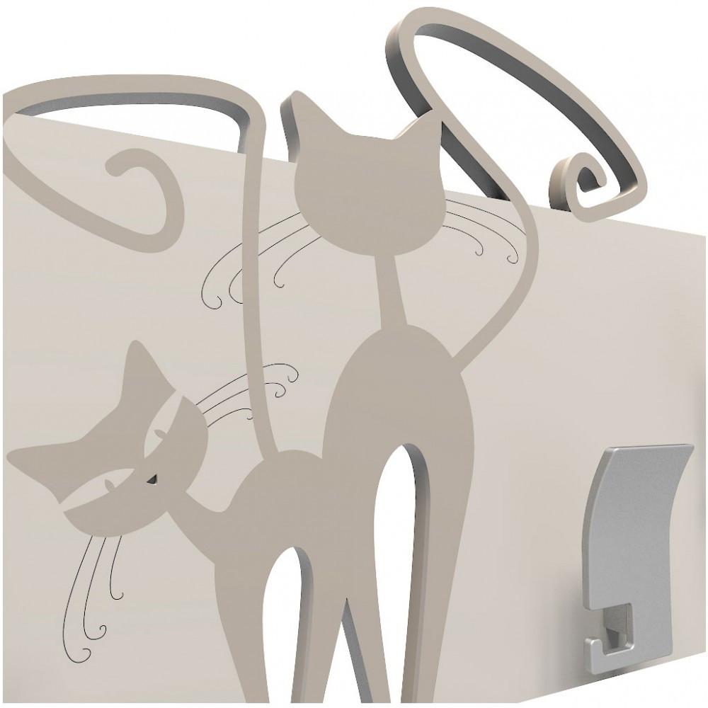 Callea design linea gatti appendiabiti da parete in legno - Portachiavi da parete design ...