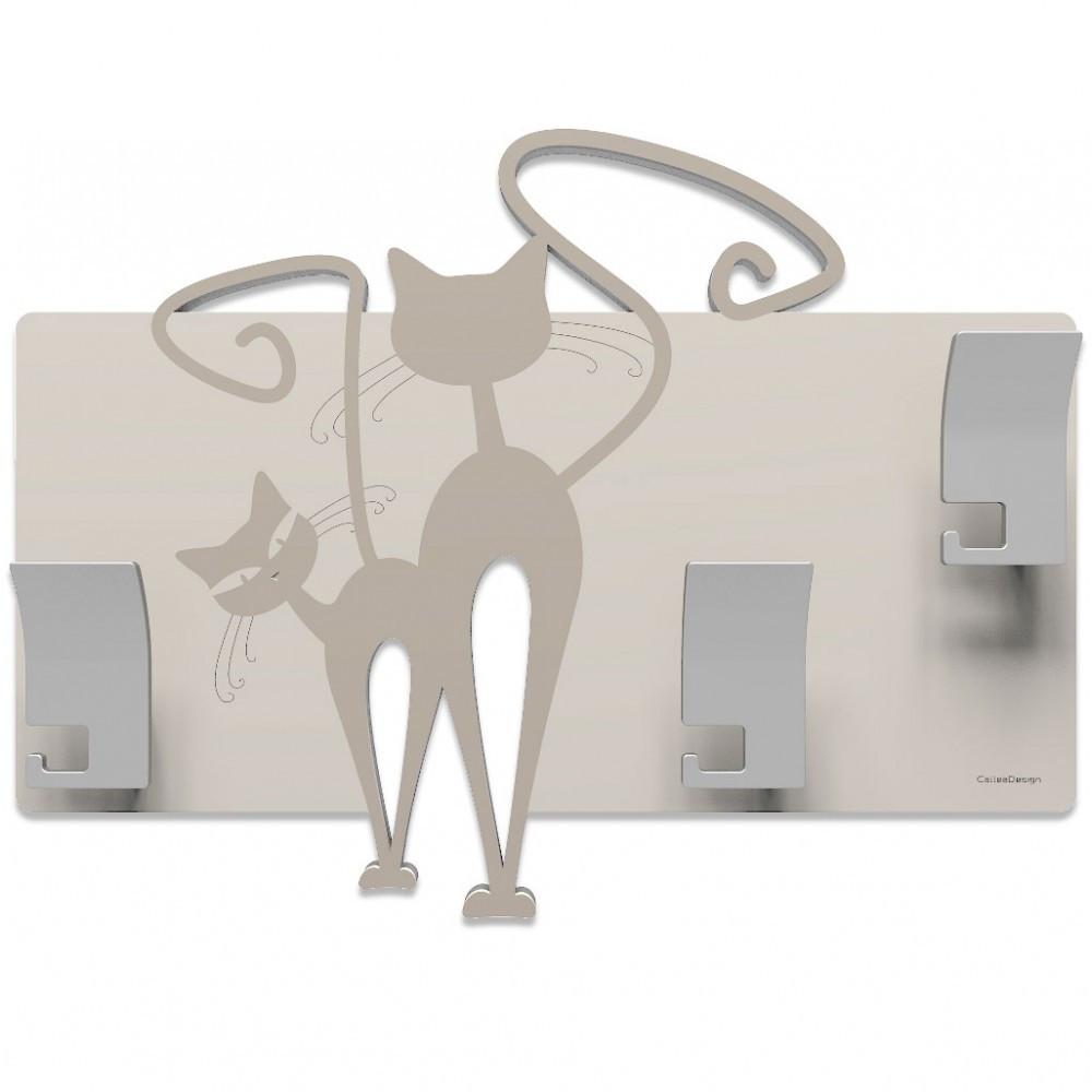 Callea design linea gatti appendiabiti da parete in legno - Appendiabiti da parete design ...