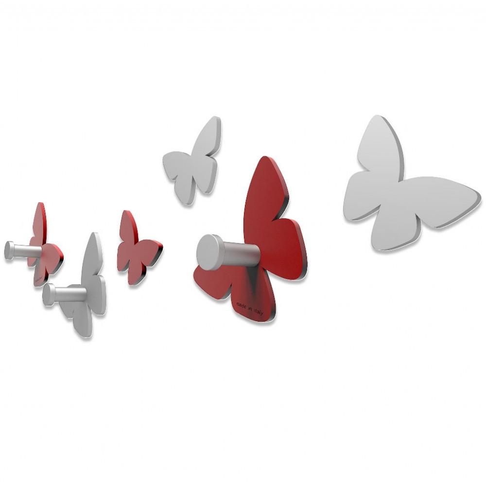 Callea design serie farfalla appendiabiti in legno vari colori - Portachiavi da parete design ...