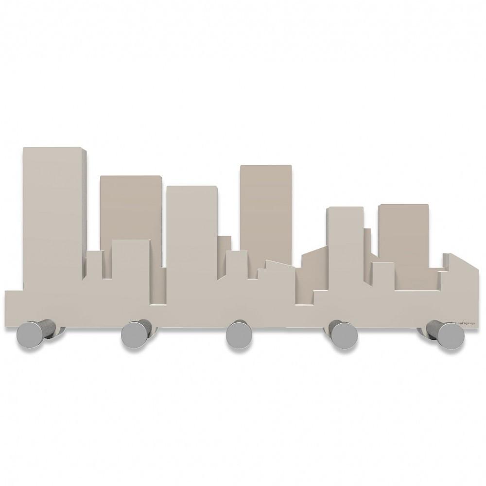 Callea design linea skyline appendiabiti di legno vari colori - Portachiavi da parete design ...