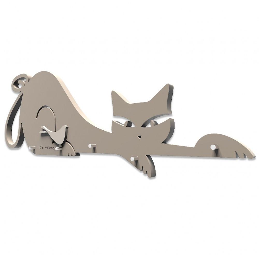 Callea design appendichiavi da parete moderno in legno linea gatti - Portachiavi da parete design ...