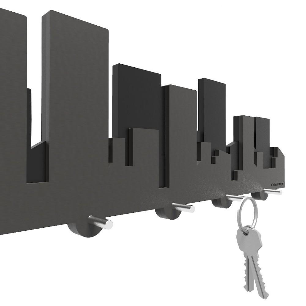 Callea design appendichiavi da muro moderno in legno linea - Portachiavi da parete ...
