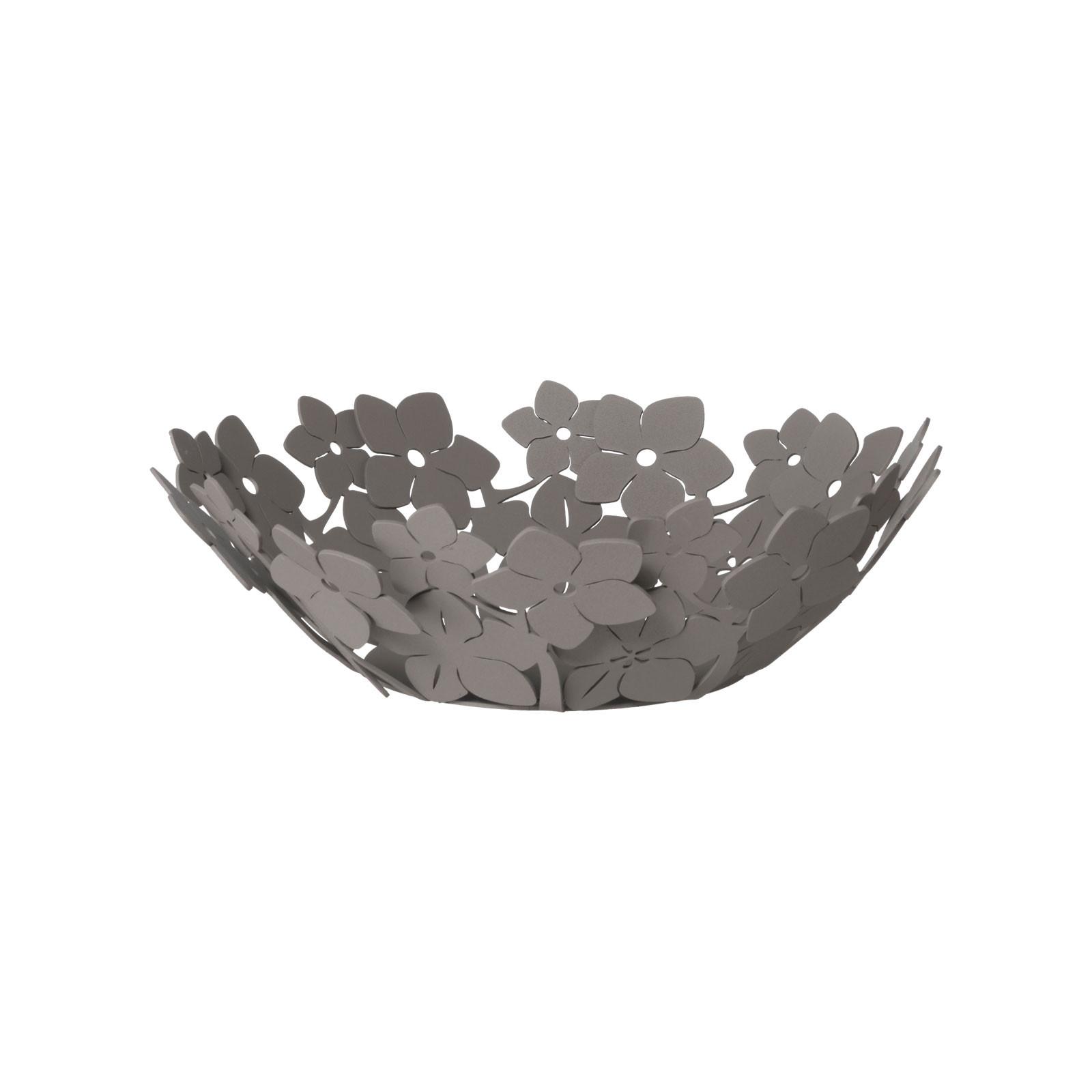 Arti /& Mestieri 3330C158 Portatovaglioli Basso Floreale Fior Di Loto 17x17Px12H cm Materiale Ferro Colore Bianco Marmo