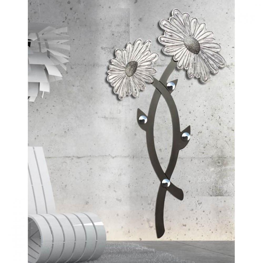 Pintdecor linea daisy appendiabiti da parete antracite for Appendiabiti parete