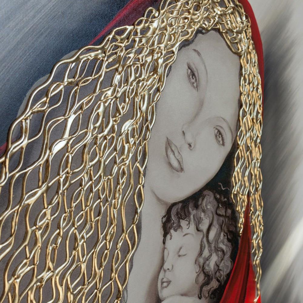 Pintdecor Capezzale Madonna decorato a mano