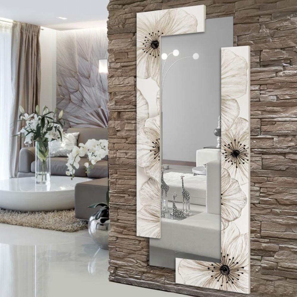 Pintdecor petunia specchio verticale - Quadri a specchio moderni ...