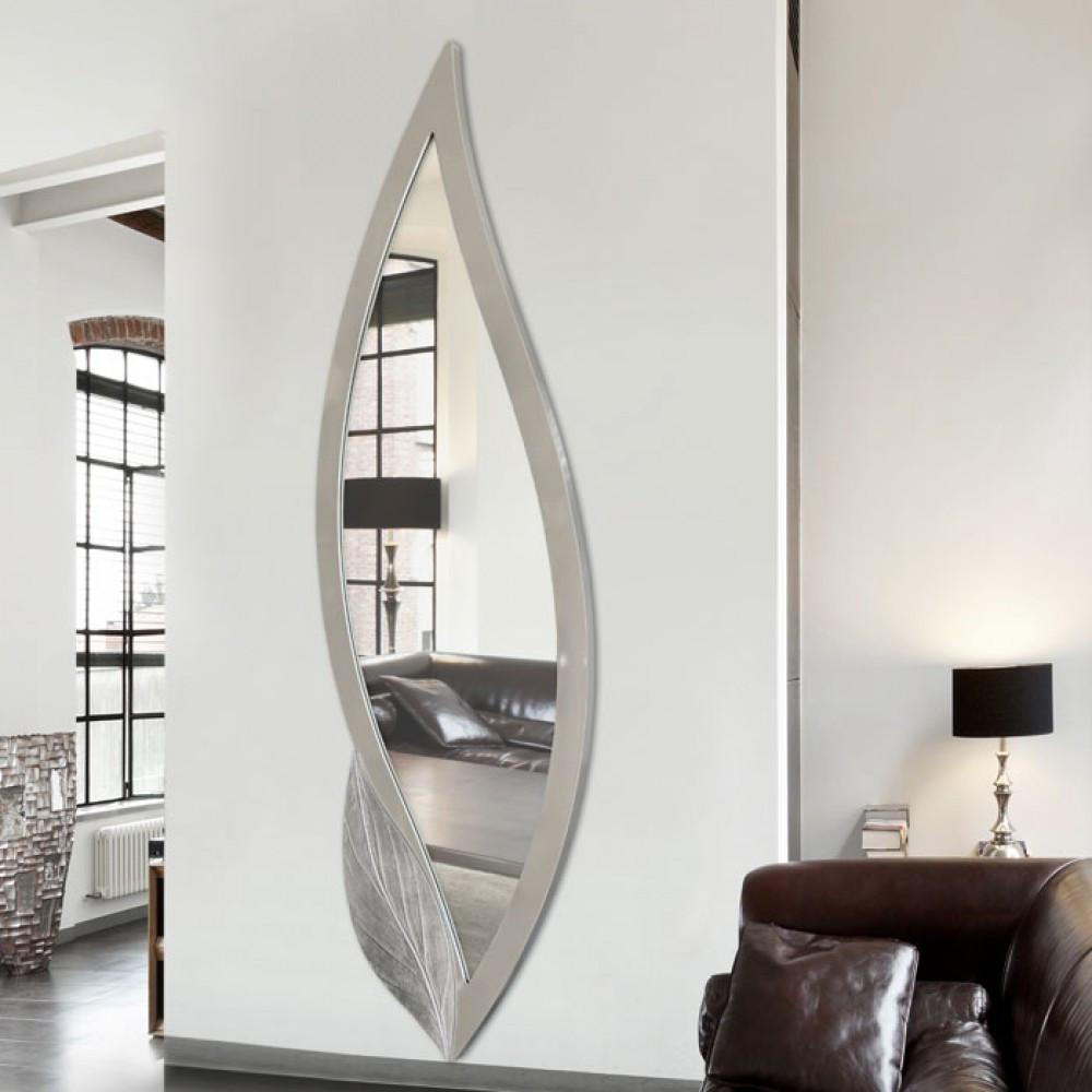Pintdecor petalo specchio verticale a forma di petalo for Specchio argento moderno