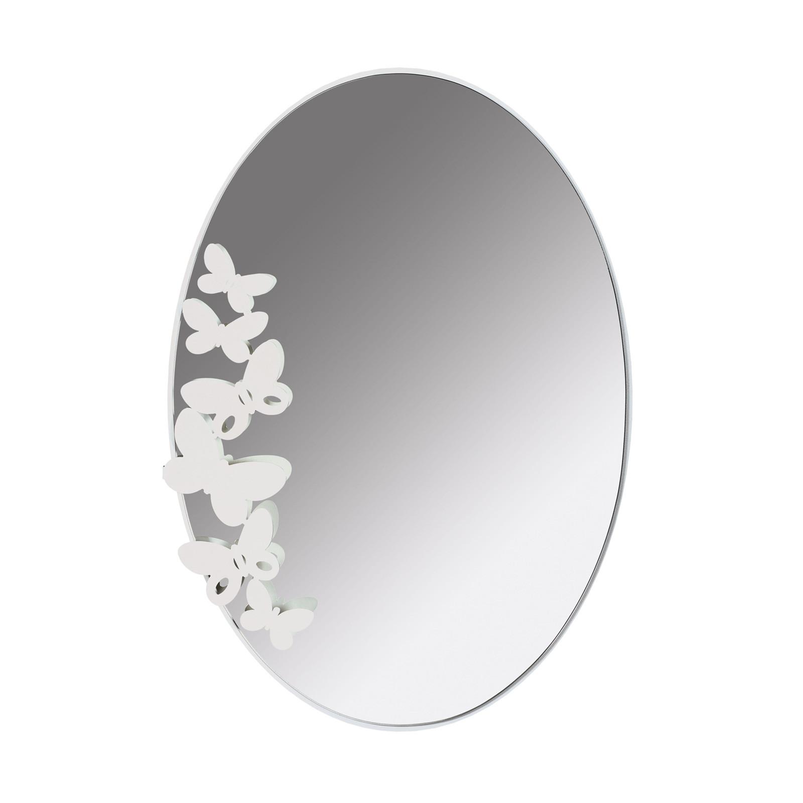 Arti e mestieri butterfly specchiera ovale in metallo in varie ...